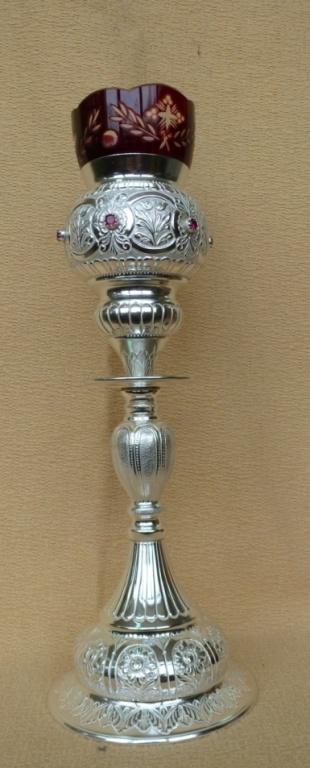 Επιτραπέζιο Καντήλι Ασημένιο